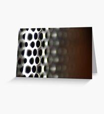 Metallic Hoop Texture - Shallow Focus Greeting Card