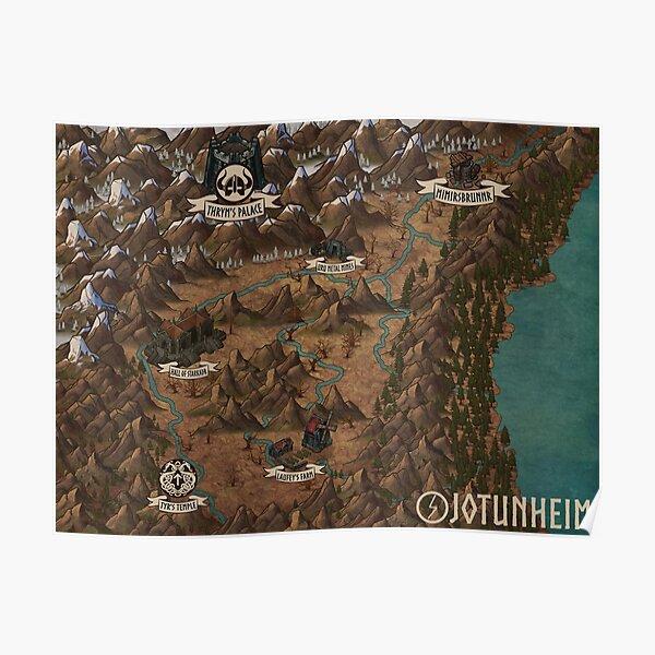 """Jotunheim"" DUNGEONS & DRAGONS World Map Poster"