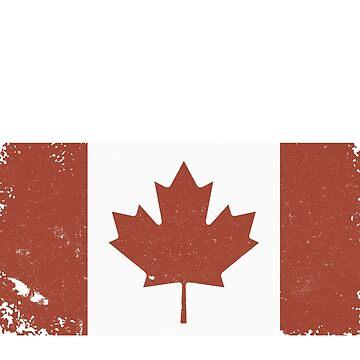Vintage Canada Flag Canada Day Vintage Style by masliankaStepan