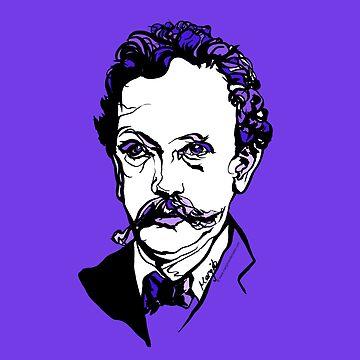 Retrato del músico Richard Strauss compositor de ArtyMargit