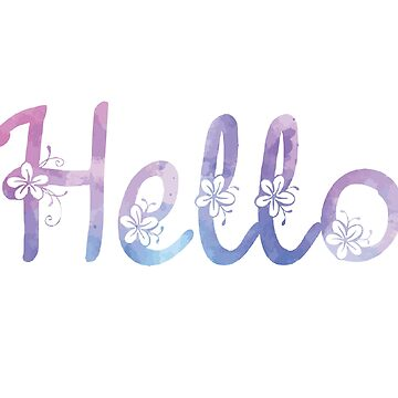 Hello Watercolor text by Viatorem