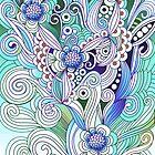 Flower fire, blue by camcreativedk