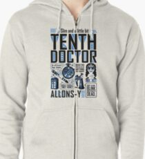 The Tenth Doctor Zipped Hoodie