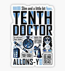 The Tenth Doctor Sticker