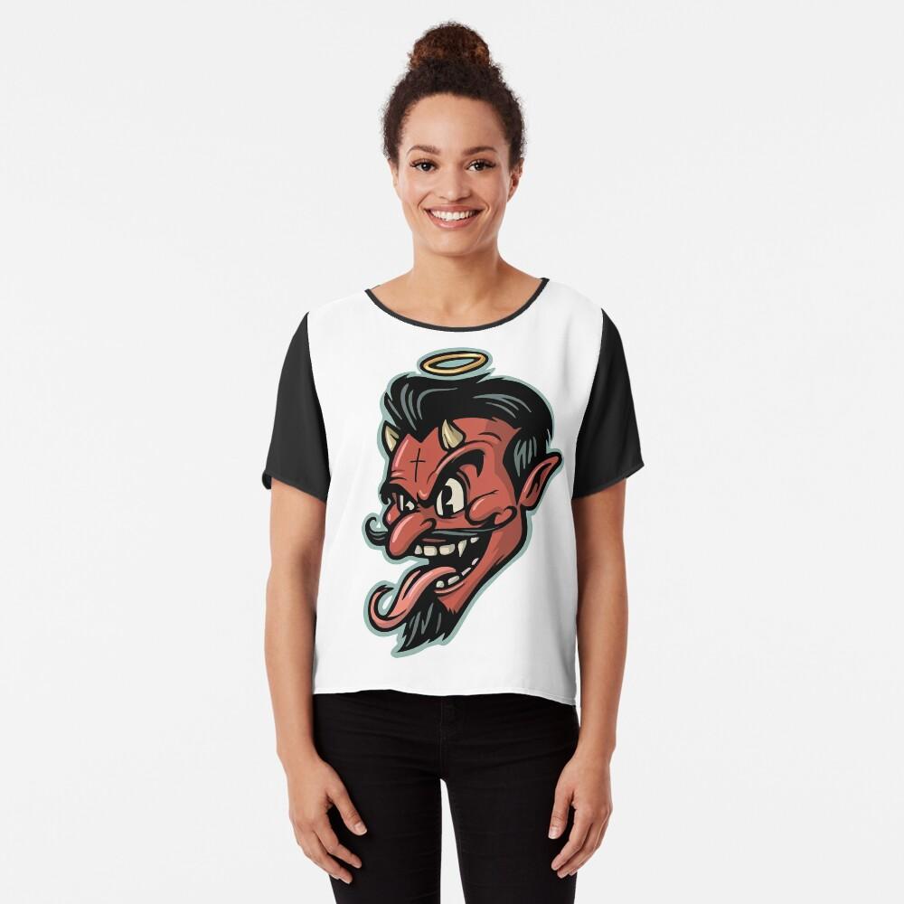 Red Devil Chiffon Top