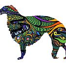 Painted Borzoi by Happy Dog Swag