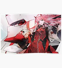 Zero Two - Darling in the Franxx - Strelizia Poster