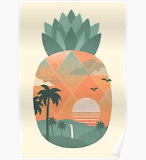 Tropical Gold Poster