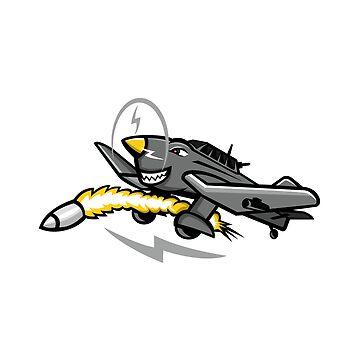 Junkers Ju 87 Stuka Dive Bomber Mascot by patrimonio