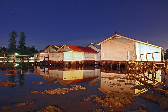 Low Tide At Mosman Bay Boatsheds  by EOS20