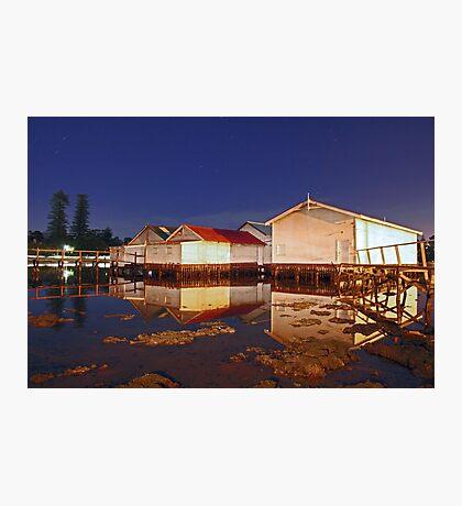 Low Tide At Mosman Bay Boatsheds  Photographic Print