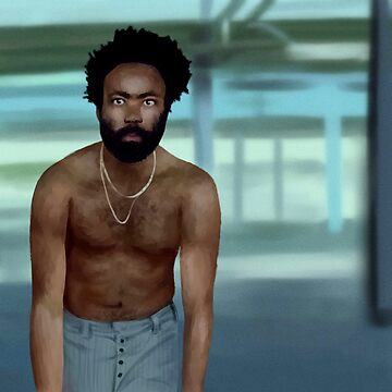 This Is America- Childish Gambino Fan Art Drawing by Ivegotartitude