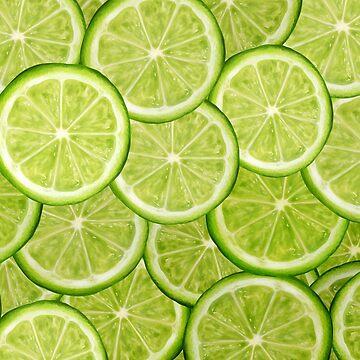 Lime Pattern- Digital Drawing by Ivegotartitude