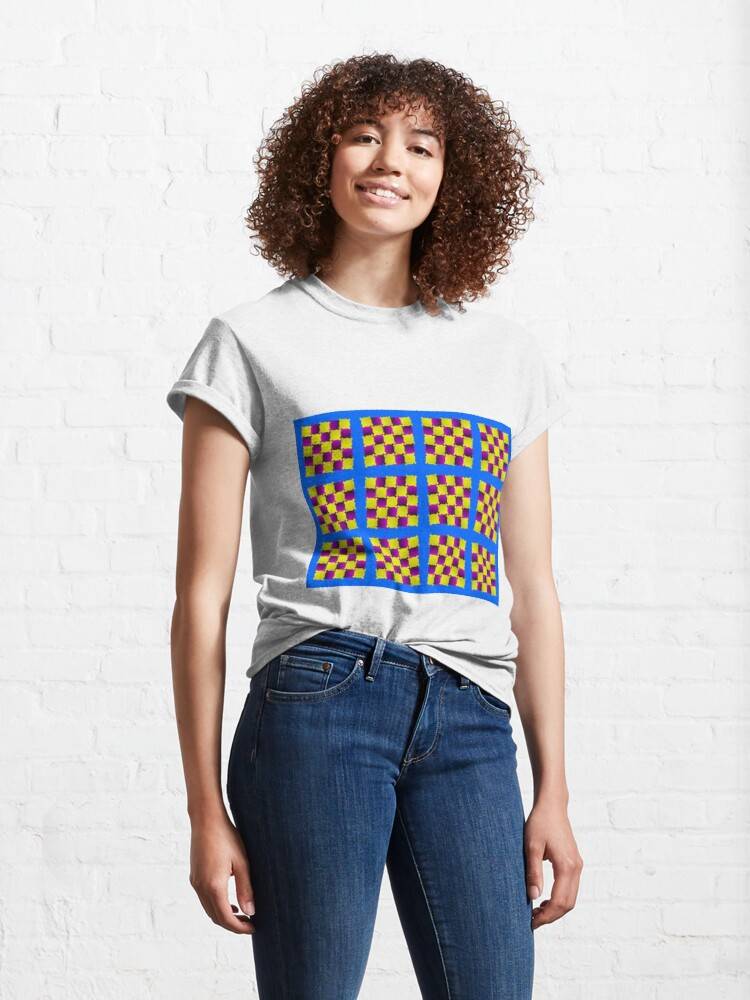 Alternate view of Optical Illusion, Visual Illusion, Cognitive Illusions, #OpticalIllusion, #VisualIllusion, #CognitiveIllusions, #Optical, #Illusion, #Visual, #Cognitive, #Illusions Classic T-Shirt