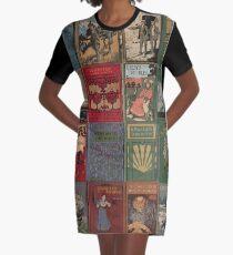 Vintage Bücher T-Shirt Kleid