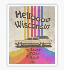 Hello Wisconsin Sticker