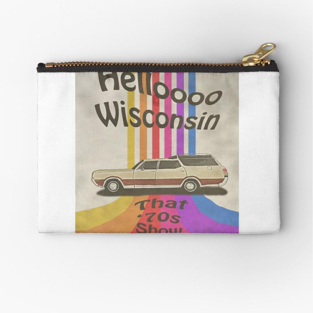 Hello Wisconsin Zipper Pouch