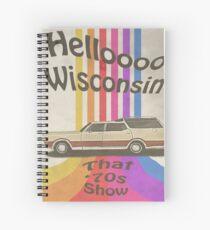Hello Wisconsin Spiral Notebook