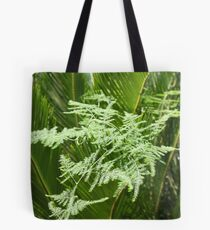 Palm with lacy fern Tote Bag