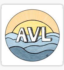 AVL Asheville Design by Teresa Walsh  Sticker