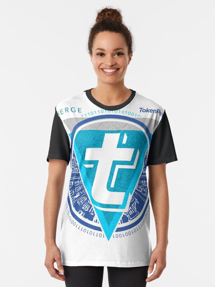 Alternate view of Verge TokenPay  Graphic T-Shirt