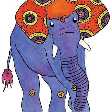 Paislephant - El elefante con dibujos de Paisley de Elvedee