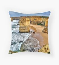 Battered icons Throw Pillow