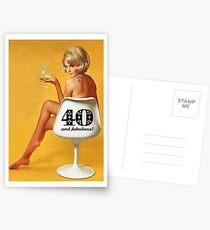 GREETING CARD HAPPY 40TH BIRTHDAY #1 Postcards