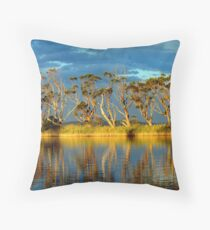 """ Snowy  River "" Marlo Australia  Throw Pillow"