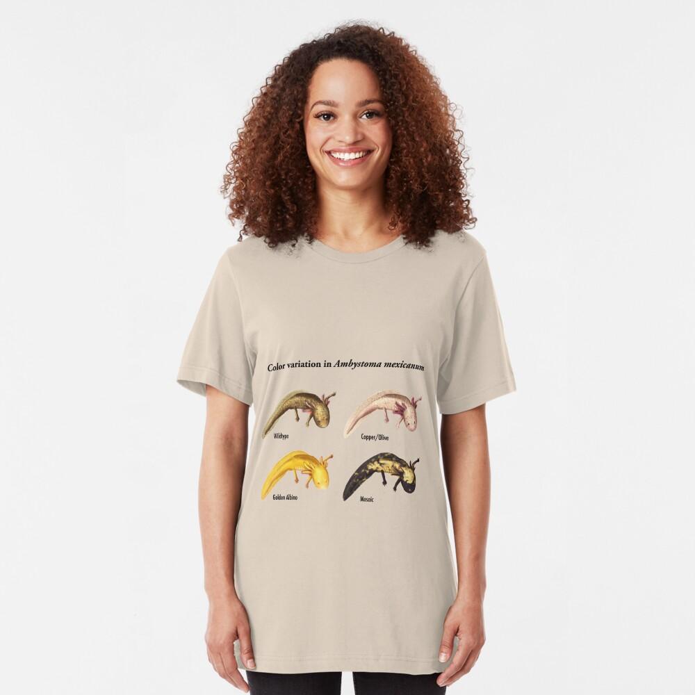 Axolotl Color Variations Slim Fit T-Shirt