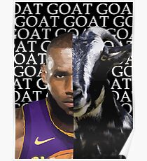 G.O.A.T - LA Lakers  Lebron James Poster
