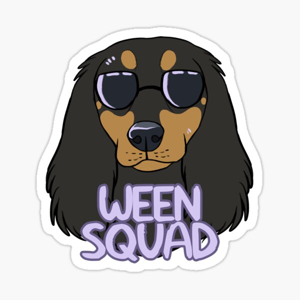 WEEN SQUAD (longhaired black and tan) Sticker
