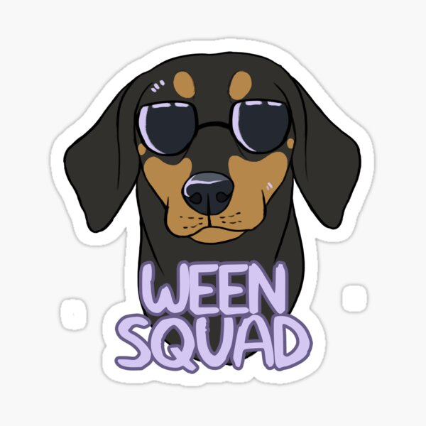 WEEN SQUAD (shorthaired black and tan) Sticker