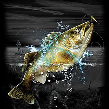 Midnight Bass Fishing by kleynard