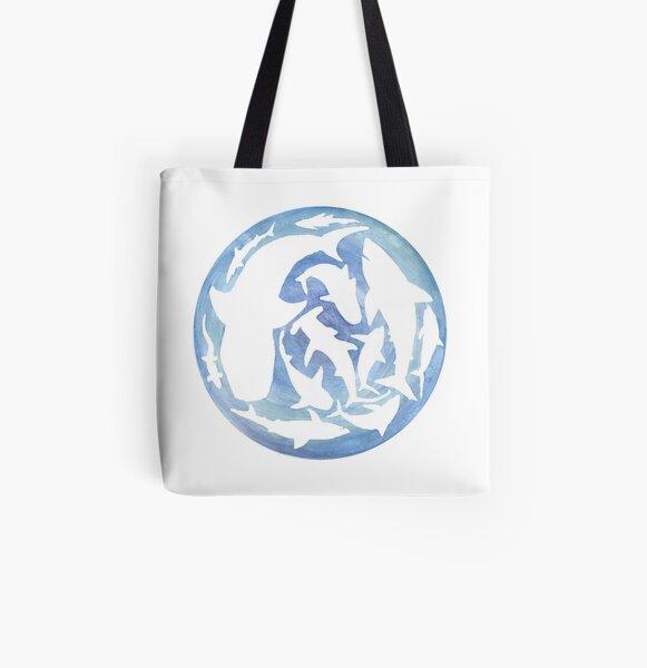 World of Sharks All Over Print Tote Bag