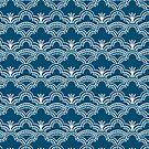 Scallop Lace Batik, Petrol Blue by ThistleandFox