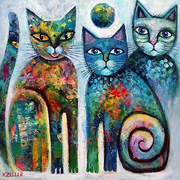 Three cute cats  by karincharlotte