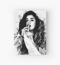 Cuaderno de tapa dura Lauren Jauregui logotipo blanco y negro