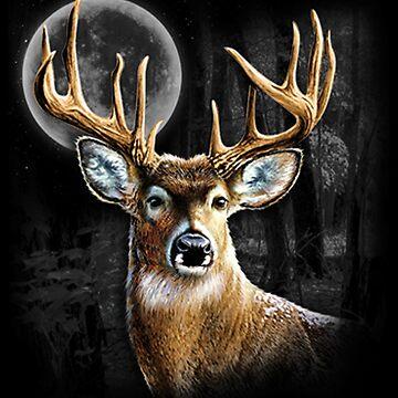 Midnight Deer by kleynard