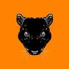 Pagan Animals - Black Rat Face by Nishita Wojnar