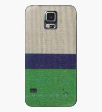 CREAM BLUE BAND GREEN Case/Skin for Samsung Galaxy