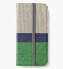CREAM BLUE BAND GREEN iPhone Wallet/Case/Skin