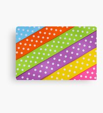 Colorful ribbon Canvas Print