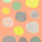 Abstract Pattern of Multi-colored Circles by latheandquill