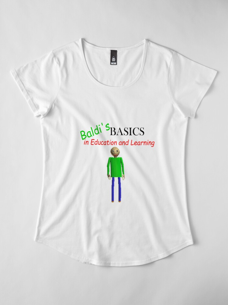 Alternate view of Baldi's Basics in Education and Learning Premium Scoop T-Shirt