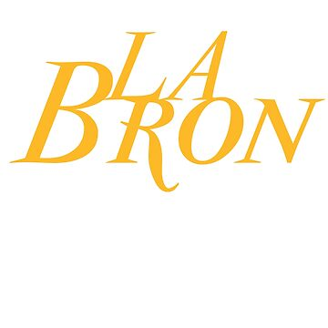 LA-Bron Basketball T-Shirt by DCPCreative