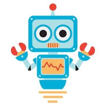 Cartoon Robot by burninice
