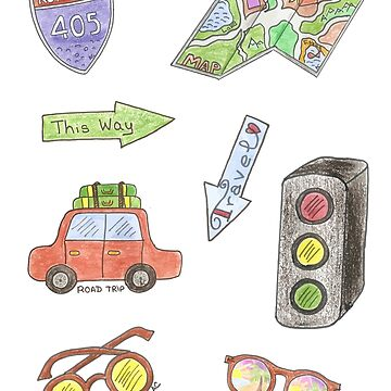 Road trip stickers pack by iCraftCafe