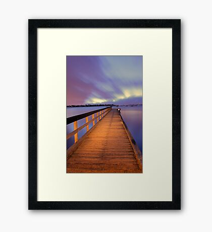 Jetty At Dawn  Framed Print