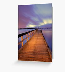 Jetty At Dawn  Greeting Card